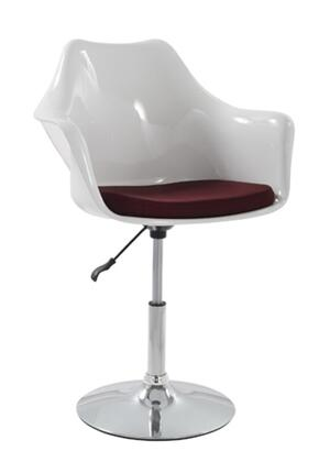 Fine Mod Imports FMI2128W Lilly Arm Chair Bar Stool White Shell: X Upholstery