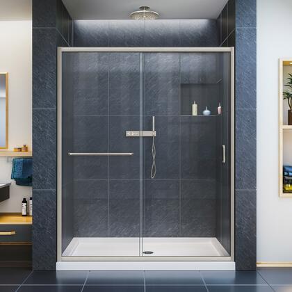 Infinity Z Shower Door 60 Brushed