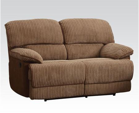 Acme Furniture 51141 Malvern Series Fabric Reclining with Wood and Metal Frame Loveseat