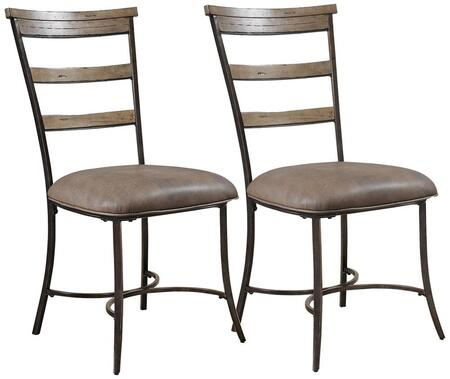 Hillsdale Furniture 4670805 Charleston Series Traditional Faux Leather Metal Frame Dining Room Chair