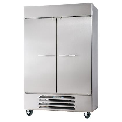 "Beverage-Air HBR44-1 47"" Horizon Series Two Section [Solid Door] Reach-In Refrigerator, 44 cu.ft. Capacity, Stainless Steel Exterior and Interior, with Bottom Mounted Compressor"