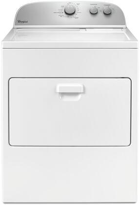 """Whirlpool WXD4916FW 29"""" Front Load Dryer with 7 cu. ft. Capacity, 13 Dry Cycles, AutoDry Drying System, Wrinkle Shield Option, and Lint Filter Indicator, in White"""