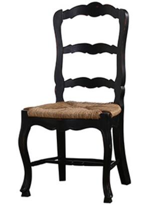 Bramble 23779 Provence Series Transitional Fabric Wood Frame Dining Room Chair