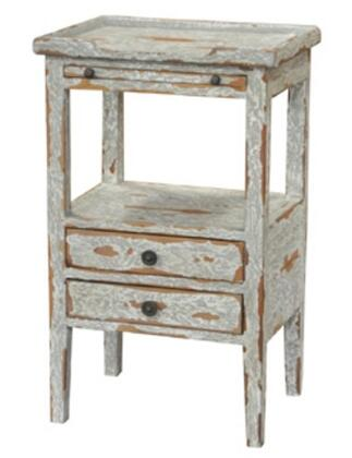 Bramble 23873 Aries Series Transitional Wood Rectangular 3 Drawers End Table