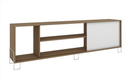 """Accentuations Nacka 1.0 Collection 9AMCXXX 71"""" TV Stand with Open Shelves, Modern Feet Design and Sliding Door in"""