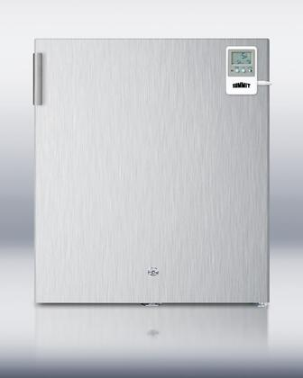 "Summit FS22L7CSSMED 18"" Medical Series  Freezer with 1.42 cu. ft. Capacity in Stainless Steel"