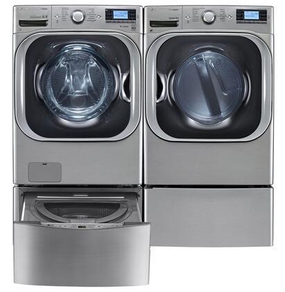 LG LG4PCFL29E2PEDSSKIT2 TurboWash Washer and Dryer Combos