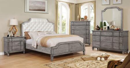 Furniture of America CM7856EKBEDSET Ganymede King Bedroom Se