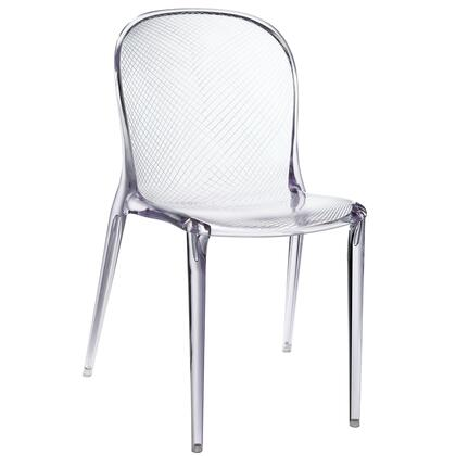 """Modway EEI-789 Scape 17"""" Stackable Dining Chair with Modern Design, Translucent Style, and Durable Polycarbonate Acrylic Construction"""