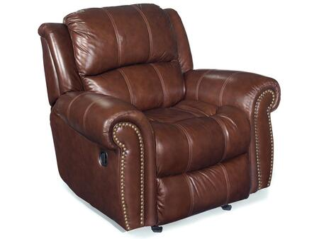 Living Room Cognac Glider Recliner Chair
