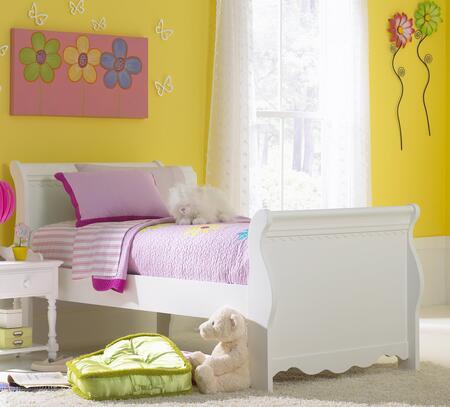 Hillsdale Furniture 1528BTWSR Lauren Series Foldable Twin Size Sleigh Bed