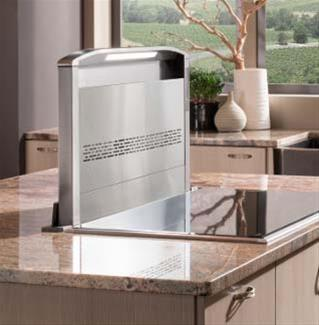 """Best D49MXXSB XX"""" Downdraft Ventilation with Heat Sentry, 4 Speed Glass Touch Control, Vertex Complete Capture Design, and 2 LED Lighting: Stainless Steel"""