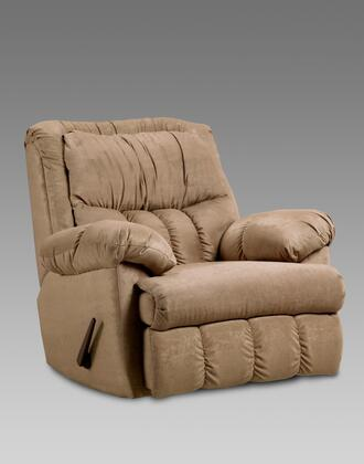 Chelsea Home Furniture 2500 Payton Chaise Rocker Recliner with 1.8 Density Foam Cushions, Sewn Pillow Cushions, Sinuous Springs and Toggle Push Button in