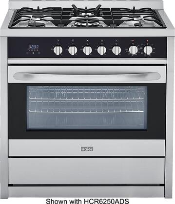 "Haier HCR3560ADS 30"" Dual Fuel Freestanding Range with Sealed Burner Cooktop, 5 cu. ft. Primary Oven Capacity, in Stainless Steel"