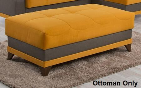 Riva Orange Sectional and Ottoman