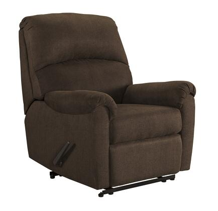 """Signature Design by Ashley Otwell Collection 6660X-29 35"""" Zero Wall Recliner with Pillow Top Arms, Stitching Detail and Fabric Upholstery in"""