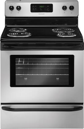 "Frigidaire FFEF3015LM 30""  Electric Freestanding Range with Coil Element Cooktop, 5.3 cu. ft. Primary Oven Capacity, Storage in Silver Mist"