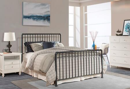 Hillsdale Furniture Brandi 2124HXR Bed with Simple Spindle Design and a Panel Constructed with Metal in Navy Finish