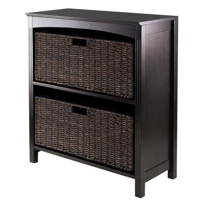 Winsome 923XX Terrace 3pc 26inch Wide Storage with 3-Tier Shelf in Espresso Finish