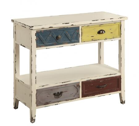 Coaster 950545 Accent Tables Series Freestanding Wood 4 Drawers Cabinet