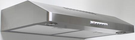 Faber LEVA3 Levante Under Cabinet Range Hood with 300 CFM Internal Blower, Versatile Exhaust Options, Dishwasher Safe Mesh Filters and 2 Halogen Lights