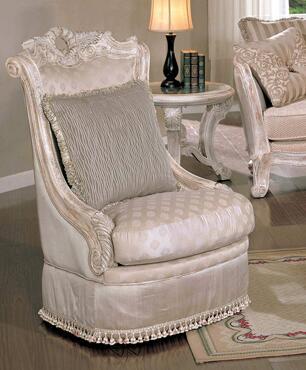 Yuan Tai CA2035A Callie Series Fabric Chair with Wood Frame