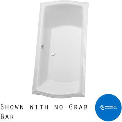 Toto ABY784N01 Clayton Series Drop-In Soaker Bathtub with Acrylic Construction, Slip-Resistant Surface, and Grab Bar, Cotton Finish