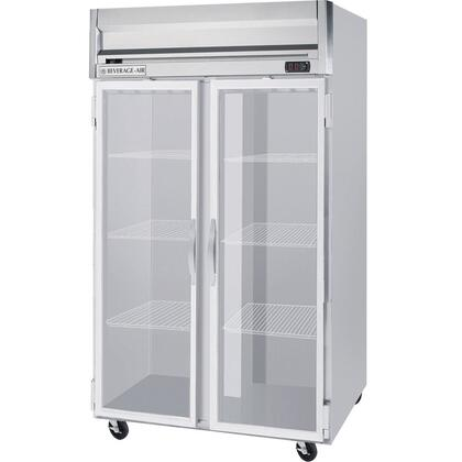 Beverage-Air HFPS2-1 Horizon Series Two Section [Solid Door] Reach-In Freezer, 49 cu.ft. Capacity, Stainless Steel Exterior and Interior