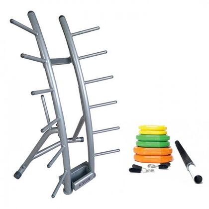 Element Fitness E-500-83 Cardio Pump Rack with Metal Frame in Gray