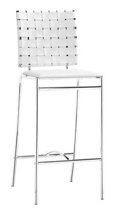 Zuo 333061 Criss Cross Series  Bar Stool