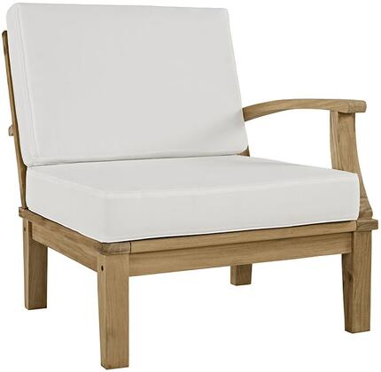 Modway EEI1148NATWHISET Marina Series  Teak Frame  Patio Arm Chair