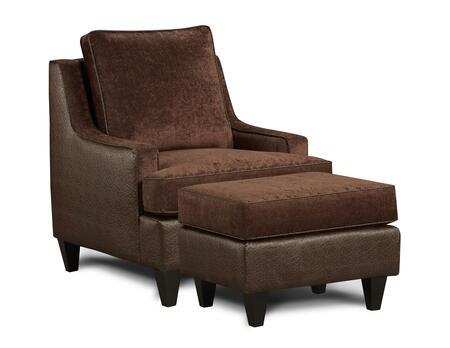 Chelsea Home Furniture 632128012 Catania Series Fabric Armchair with Wood Frame in Xanadu Sepia/Emu Espresso