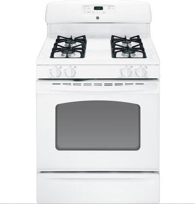 GE JGB250DETWW  Gas Freestanding Range with Sealed Burner Cooktop, 4.8 cu. ft. Primary Oven Capacity, Storage in White