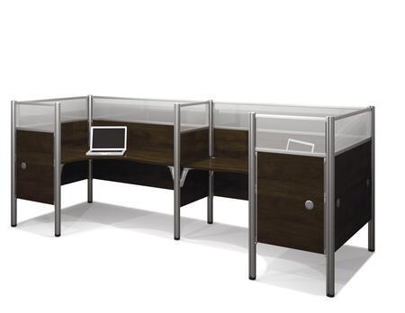 Bestar Furniture 100857D Pro-Biz Double back to back L-desk workstation