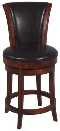 Chintaly 0239CS Residential Bonded Leather Upholstered Bar Stool