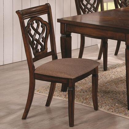 Coaster 103392 Dining 10339 Series Traditional Fabric Wood Frame Dining Room Chair