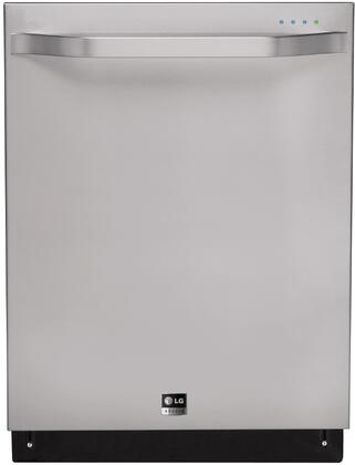 """LG Studio LSDF996x 24"""" Built-In Dishwasher with 14 Place Settings, Fully Integrated Controls, TrueSteam Technology, 3-Stage Filtration System, EasyRack Plus, 42 dBA LoDecibel Quiet Operation and Slim DirectDrive Motor, in"""