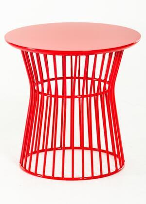 VIG Furniture VGEUMC6270ET Modrest Graph Series Modern Metal Round None Drawers End Table