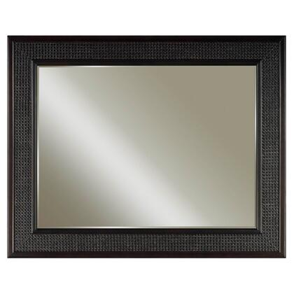 Water Creation London Collection Matching Beveled Edge Mirror For London Bathroom Vanities with Solid Hardwood Construction and Premium Five Coated Hand Finish in Espresso