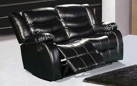 """Meridian Gramercy 642-L 61"""" Loveseat with Top Quality Bonded Leather Upholstery, Rocker Reclining and Removable Backs in"""