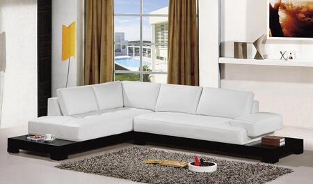 VIG Furniture VGEV2226B  Sofa and Chaise Leather Sofa