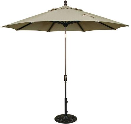 Standard View of the Umbrella: Opened, standing alone