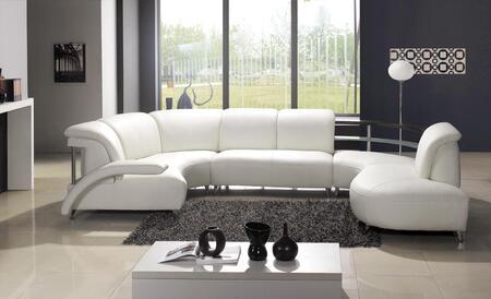 Vig Furniture Leather Sectional Sofa Vgev104 Off White Appliances