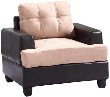 Glory Furniture G588AC Suede Armchair in Mocha