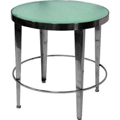 Allan Copley Designs 2060202 Sarah Series Contemporary Round End Table