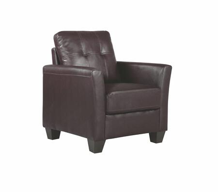 Glory Furniture G575C G570 Series Faux Leather Armchair in Dark Brown
