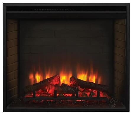 Majestic SF-BIXX-E SimpliFire Built-In Traditional Electric Fireplace with Detailed Masonry-Style Interior and Textured Log Set,Up to 4,800 BTUs, UL/ULC Listed