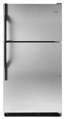 Whirlpool WRT138TFYS Freestanding Top Freezer Refrigerator with 18.5 cu. ft. Total Capacity 2 Glass Shelves 5.3 cu. ft. Freezer Capacity