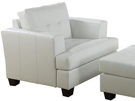 Acme Furniture 15097 Diamond Series Bonded Leather with Wood Frame in White
