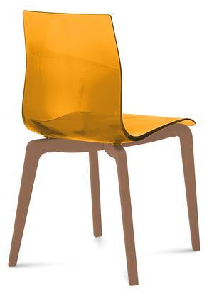 Domitalia GELSLSFNCASAR Gel Series Transitional Wood Frame Dining Room Chair